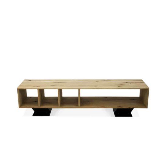 industriële eikenhouten tv meubel Felton