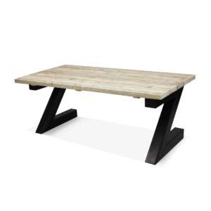 Industriële steigerhouten tafel Laconia