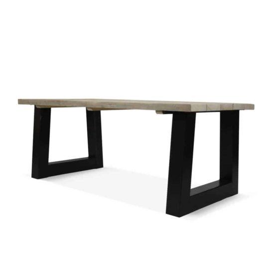 Industriële steigerhouten tafel Sabin