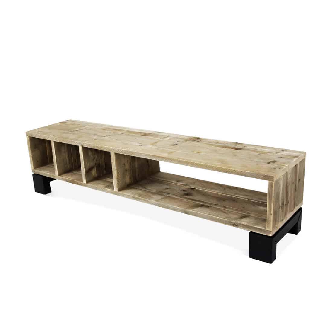 industriële steigerhouten tv meubel Aragon