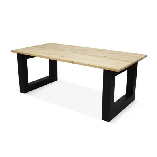 Industriële eikenhouten tafel Truk