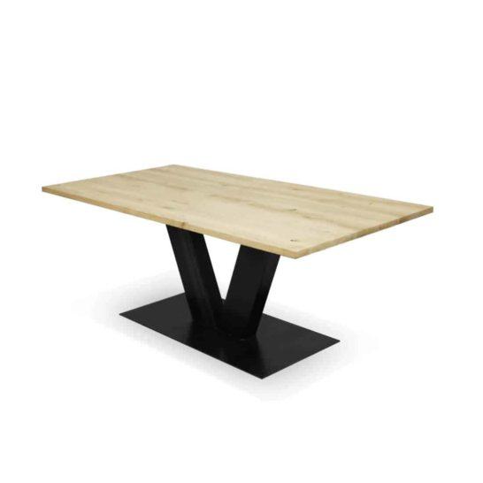 Industriële eikenhouten tafel Friant