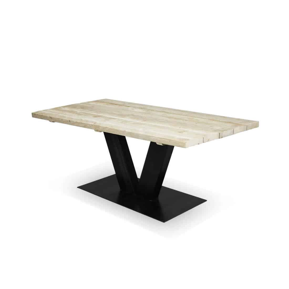 Industriële steigerhouten tafel Browns