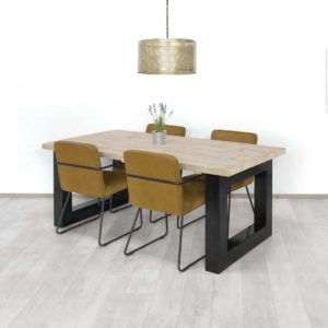 Steigerhouten tafel Otley
