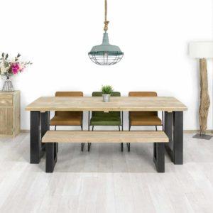 Steigerhouten tafel Sabin