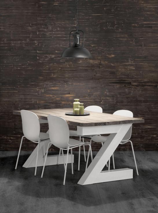 Steigerhouten tafel Z poot