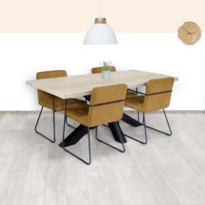 Steigerhouten tafel Taopi
