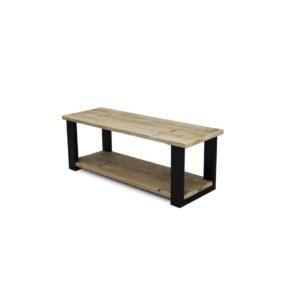 industriële steigerhouten salontafel Eberly