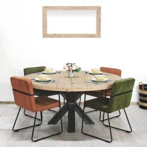 Industriele tafel met matrix poot Burley