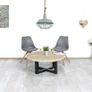 Steigerhouten industriele salontafel Worland