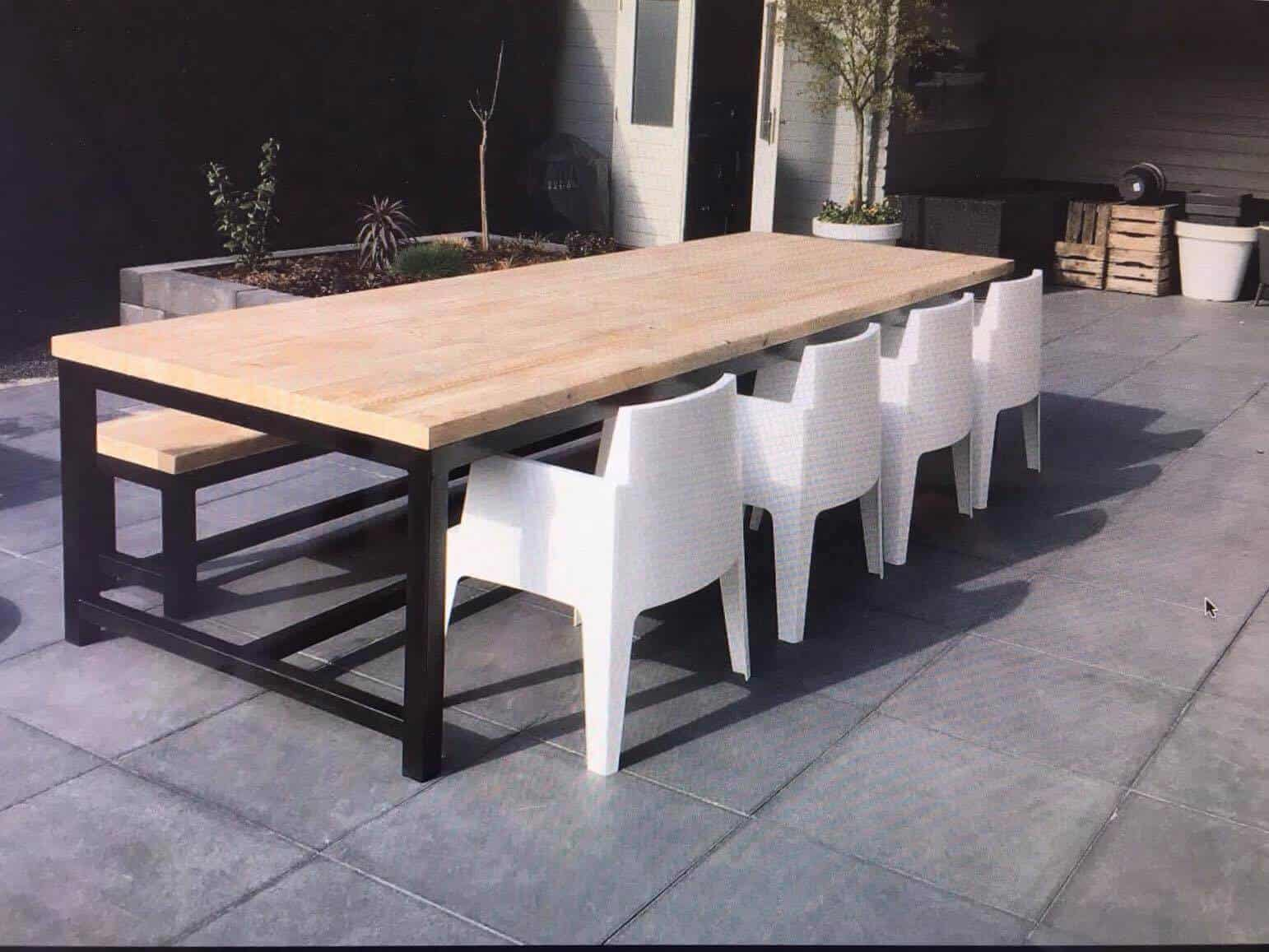 Vierkante tafel van steigerhout steigerhouten meubelen