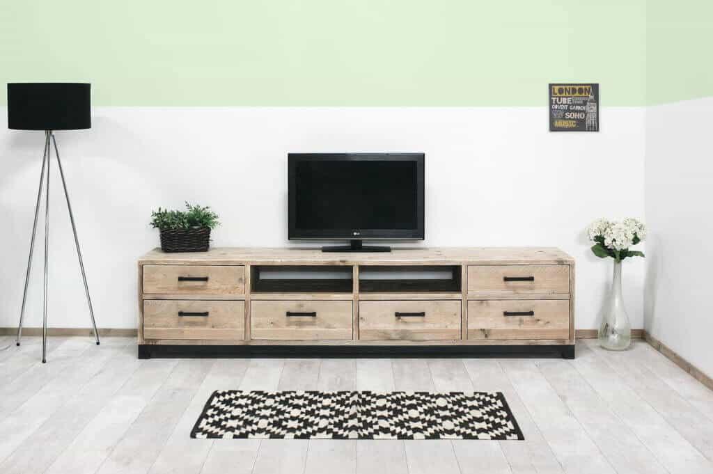 Steigerhout Tv Kast : Steigerhouten tv meubel yeso industriëlemeubelshop