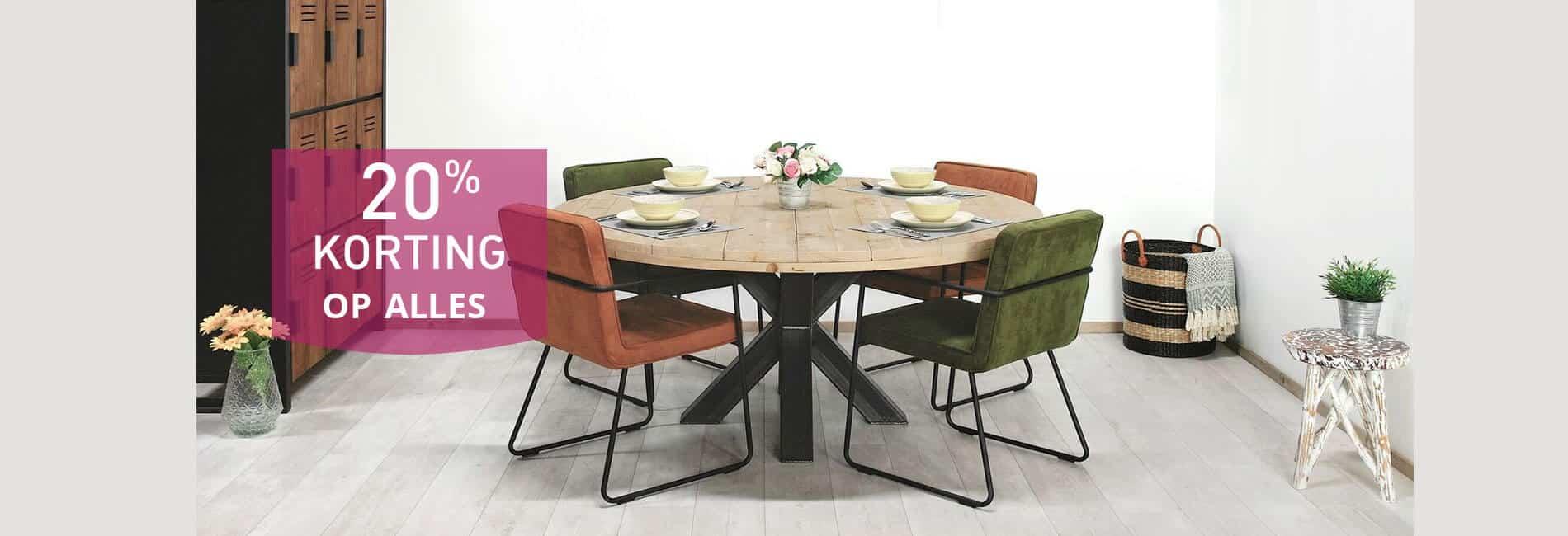 Matrix poot industriele steigerhouten tafel Burley