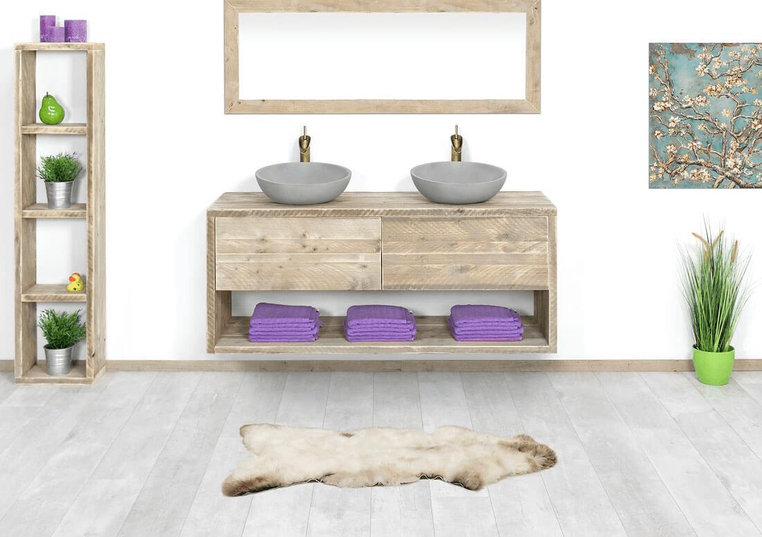 Badkamermeubel Van Steigerhout : Badkamermeubel van steigerhout badkamermeubels de tuinkamer