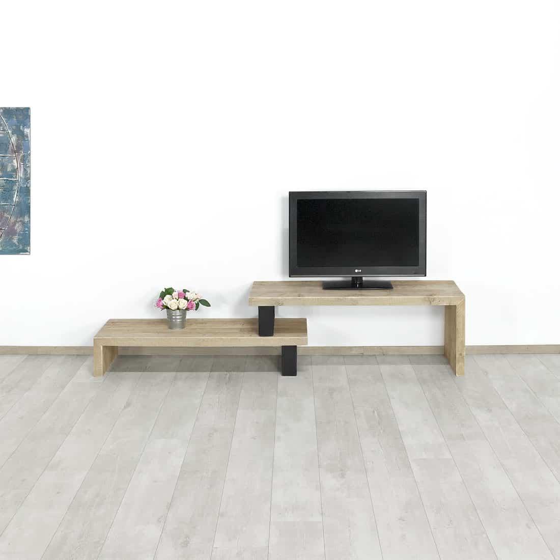 Steigerhout Tv Meubel White Wash.Steigerhouten Tv Meubel Mott Gestapeld Kopen Bestel Nu 20