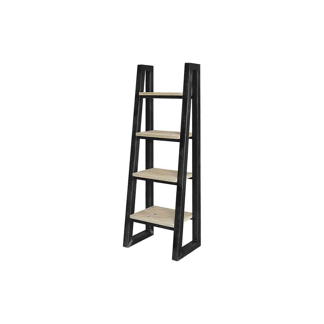 Steigerhouten Kastdecoratie Ladder Dotty