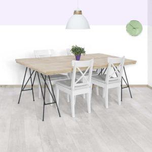 Steigerhouten tafel Bula