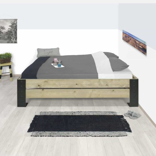Steigerhouten bed Elmo