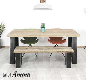 Industriele tafel Amma