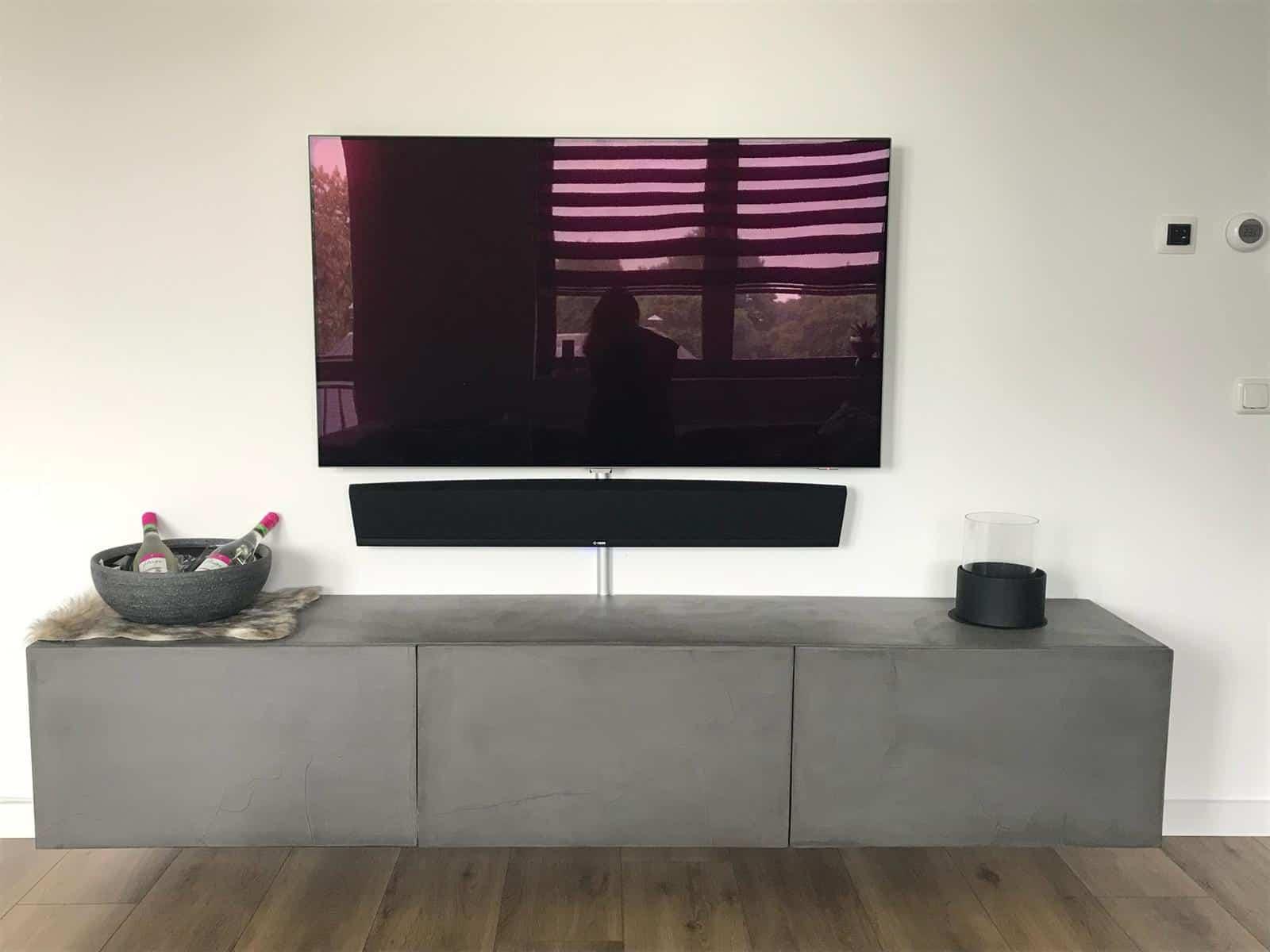 Afbeelding van Betonlook TV meubel Lipan