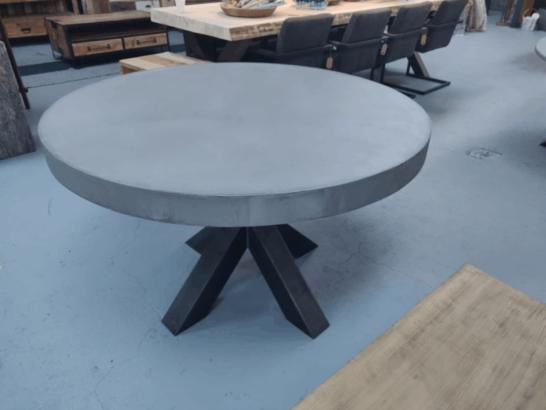 Ronde eettafel betonlook Maumee