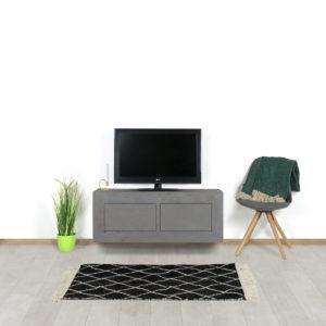 Betonlook TV meubel Osage met deurtjes