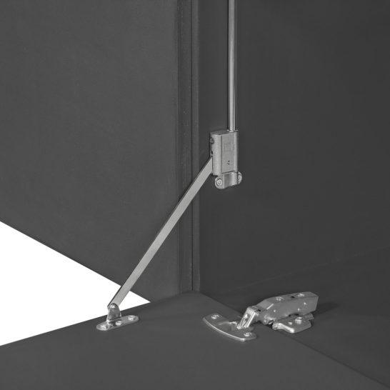 Betonlook TV meubel Jork met klepdeuren en stalen poten