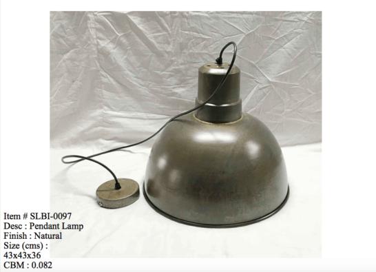 Industriele lamp - 0097