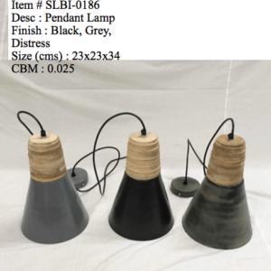 Industriele lamp 0186 - groen/zwart