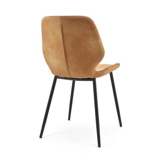 By-boo stoel Seashell - cognac