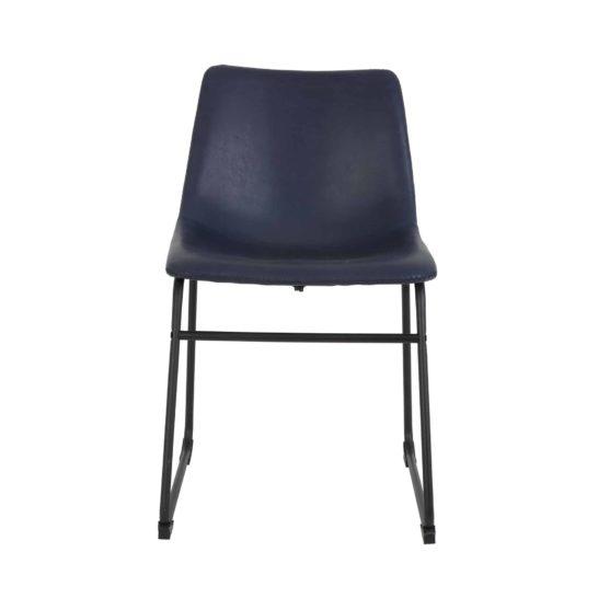 Light & living stoel Jeddo - donkerblauw