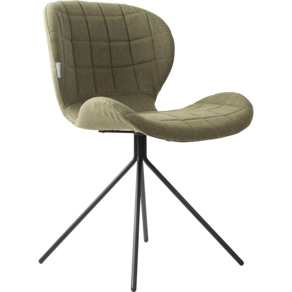 Zuiver OMG stoel groen (set van 2 stuks)