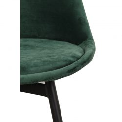 leaf chair velvet - emerald groen