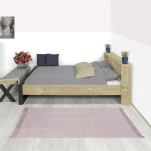 Steigerhouten bed Rives