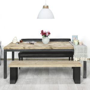 Steigerhouten tafel Elida