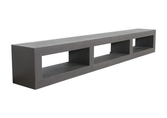 Betonlook TV meubel Beeler met open vakken