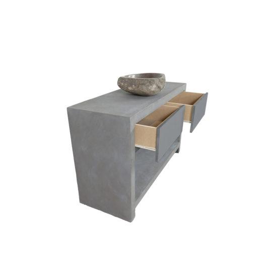 Betonlook badmeubel Wilton met lades en legplank