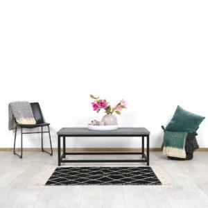 Betonlook salontafel Cade met industrieel frame