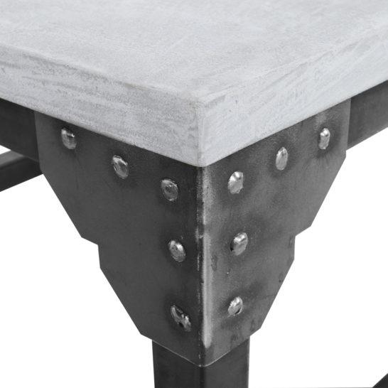 Industriële salontafel Rockford op wielen met betonlook blad
