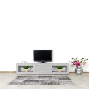 Betonlook TV meubel Miller met open vakken en klep