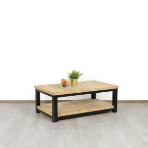 Eikenhouten salontafel Tremont met industrieel onderstel