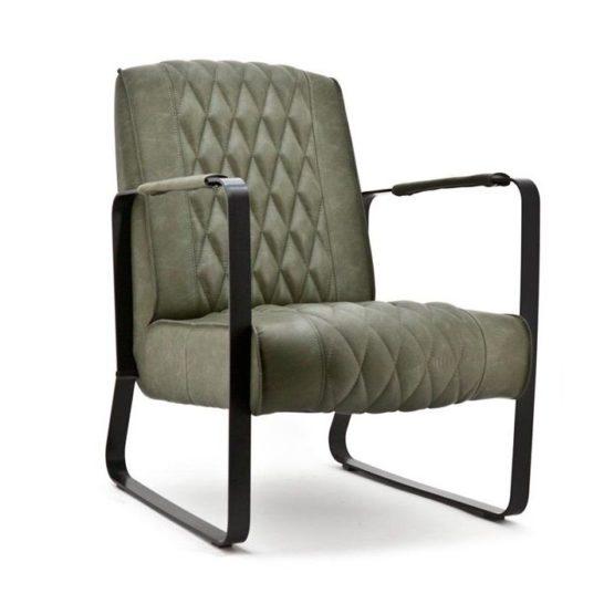 Eleonora fauteuil Caro - Groen