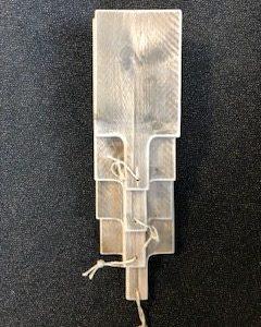 Hapjes plank van steigerhout