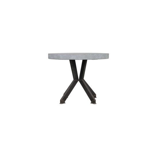 Industriele tafel Howard met rond betonlook blad