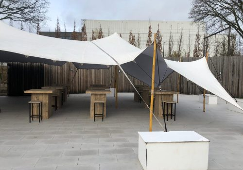 Steigerhouten meubel voor buitenterras