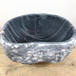 Rivierstenen waskom | W006 | 31 x 27 x 15,5 cm