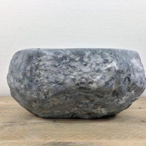 Grijze natuurstenen waskom | W009 | 33 x 27,5 x 15 cm