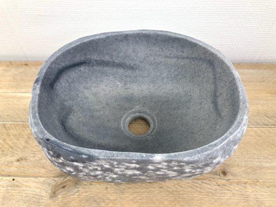 Riviersteen waskom | W007 | 32 x 26 x 15 cm
