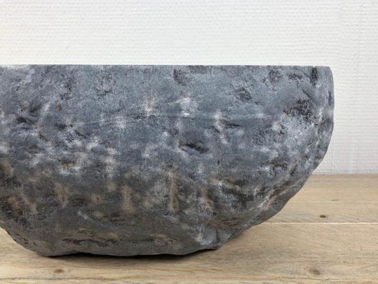 Ovale rivierstenen wasbak | W003 | 32 x 28 x 15,5 cm