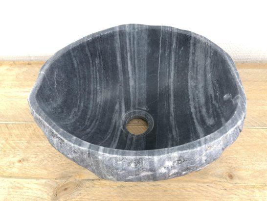 Rivierstenen waskom | W010 | 30 x 28 x 15 cm